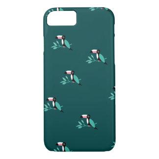 Coque iPhone 7 Motif tropical de paradis d'oiseaux turquoises de
