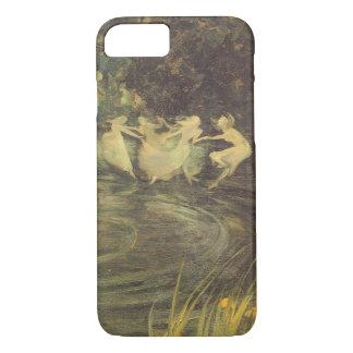 Coque iPhone 7 Mouvement giratoire de fées par noir d'Arthur,