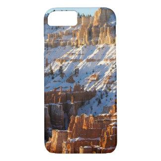 Coque iPhone 7 Noël de canyon de Bryce, point de coucher du
