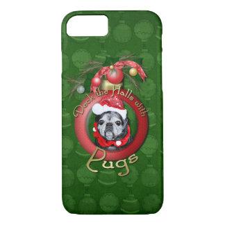 Coque iPhone 7 Noël - plate-forme les halls - carlins - ange