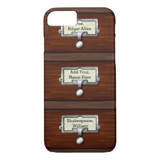 Coque iPhone 7 Nom vintage des tiroirs | de livre de catalogue