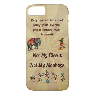 Coque iPhone 7 Non mon cirque, non mes singes