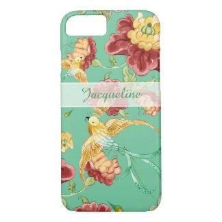 Coque iPhone 7 Oiseaux de Bohème modernes de fleur de motif de