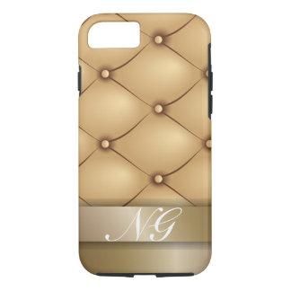 Coque iPhone 7 Or de luxe avec le nom fait sur commande