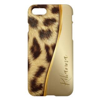 Coque iPhone 7 Or Luxe de Faux de dames de monogramme élégant de