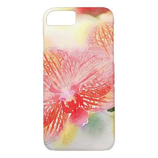 Coque iPhone 7 Orchidées d'aquarelle