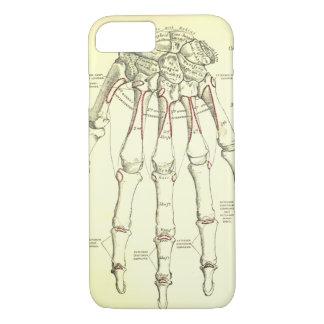 Coque iPhone 7 Os vintages de l'anatomie | de la main