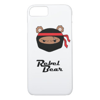 Coque iPhone 7 Ours rebelle Ninja