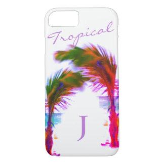 Coque iPhone 7 Palmiers tropicaux frais