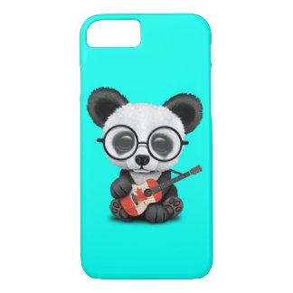 Coque iPhone 7 Panda de bébé jouant la guitare canadienne de