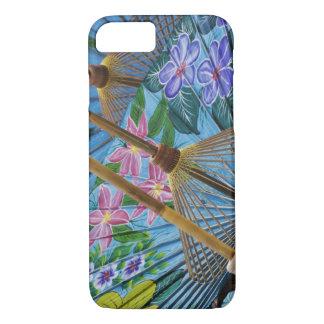 Coque iPhone 7 Parapluies peints à la main décoratifs dans le