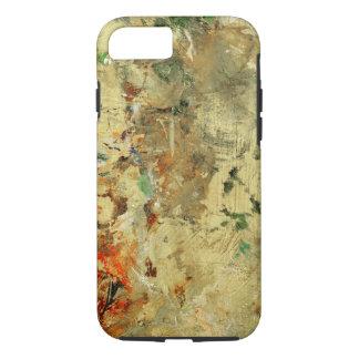 Coque iPhone 7 Peignez la palette d'artiste de panneau en bois