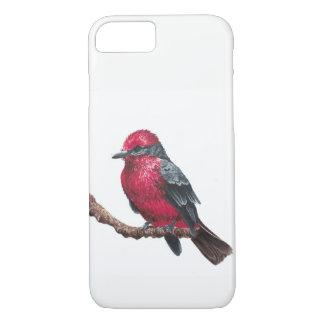 Coque iPhone 7 Petit oiseau rouge