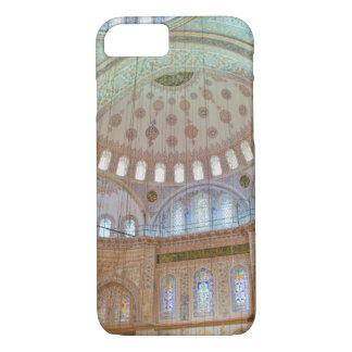 Coque iPhone 7 Plafond voûté intérieur coloré de mosquée bleue