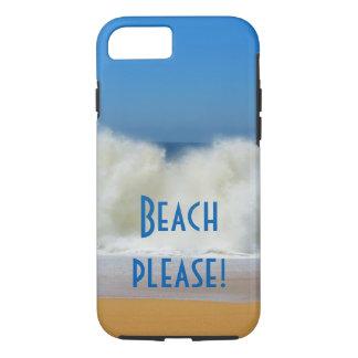 Coque iPhone 7 Plage svp ! Cas de téléphone de scène de plage