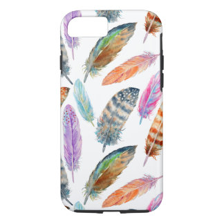 Coque iPhone 7 Plumes d'aquarelle
