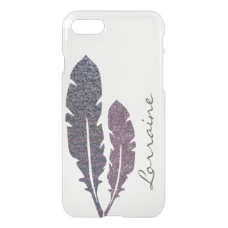 Coque iPhone 7 Plumes scintillantes