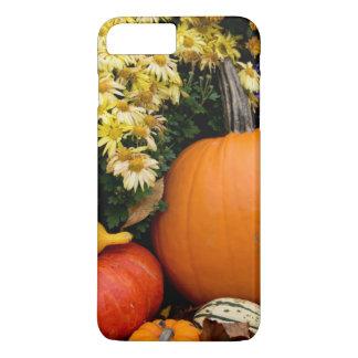 Coque iPhone 7 Plus Affichage décoratif de citrouille de chute colorée