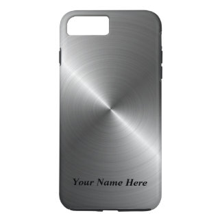 Coque iPhone 7 Plus Ajoutez votre cas en acier nommé de l'iPhone 8 de