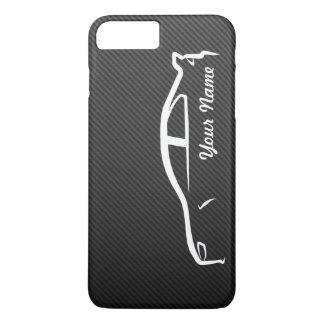 Coque iPhone 7 Plus Ajoutez votre nom - l'évolution X avec la fibre de
