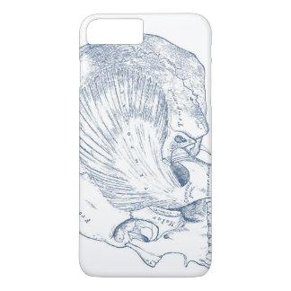 Coque iPhone 7 Plus Anatomie humaine vintage dessinant le bleu