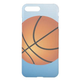 Coque iPhone 7 Plus Arrière - plan de bleu d'icône de basket-ball