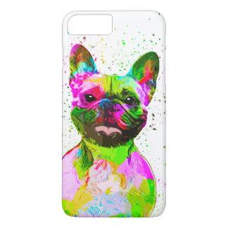 Coque iPhone 7 Plus Art de bruit coloré de bouledogue français