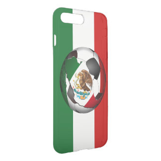 Coque iPhone 7 Plus Ballon de football du Mexique avec des couleurs de