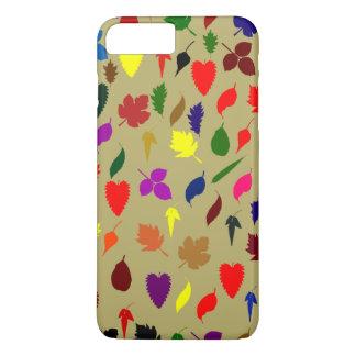 Coque iPhone 7 Plus Beau motif multicolore de feuille florale