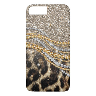 Coque iPhone 7 Plus Beau poster de animal à la mode de faux de léopard