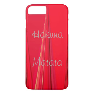Coque iPhone 7 Plus Beau rouge unique royal puissant de Hakuna Matata