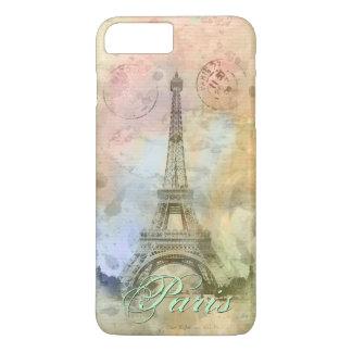 Coque iPhone 7 Plus Beau Tour Eiffel vintage girly à la mode France