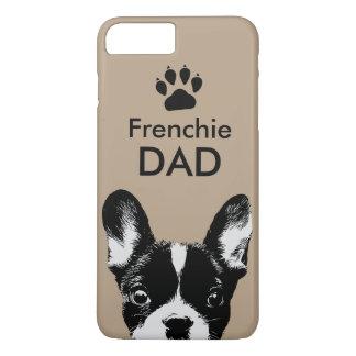 Coque iPhone 7 Plus Beige mignon de bouledogue français de papa de