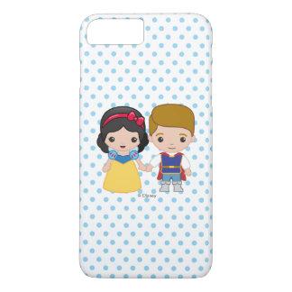 Coque iPhone 7 Plus Blanc et prince charme de neige
