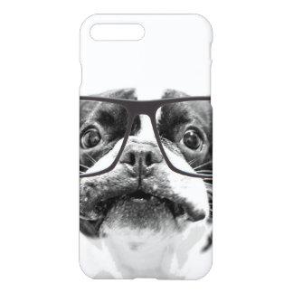 Coque iPhone 7 Plus Bouledogue français honorable avec des verres