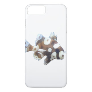 Coque iPhone 7 Plus Brown et poissons blancs