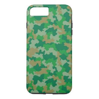 Coque iPhone 7 Plus Caisse verte de l'iPhone 6 de motif de camouflage