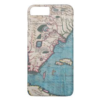 Coque iPhone 7 Plus Carte antique de la Floride et du Cuba