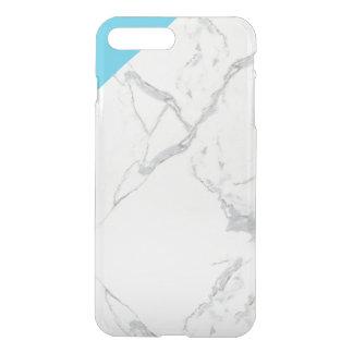 Coque iPhone 7 Plus cas clair de l'iPhone 7 avec le coin de marbre de
