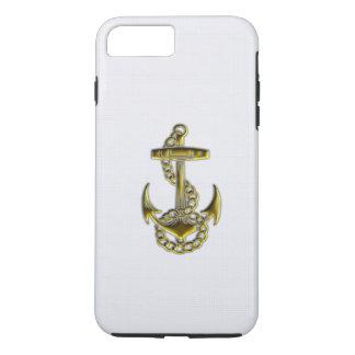 Coque iPhone 7 Plus Cas de l'iPhone 7 d'ancre d'or