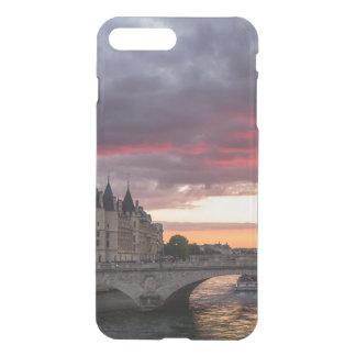 Coque iPhone 7 Plus Cas de téléphone de coucher du soleil de Paris
