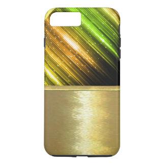 Coque iPhone 7 Plus Cas métallique frais de conception d'or