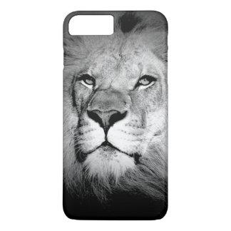 Coque iPhone 7 Plus Cas plus de l'iPhone 6 noirs et blancs de lion