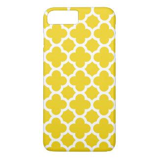 Coque iPhone 7 Plus cas plus de l'iPhone 6 - Quatrefoil jaune citron