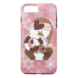 Coque iPhone 7 Plus Cas plus de l'iPhone 7 de bonhomme de neige de