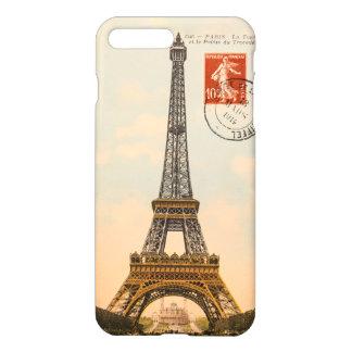 Coque iPhone 7 Plus Cas plus de l'iPhone 7 vintages de Tour Eiffel