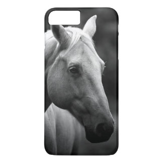 Coque iPhone 7 Plus Cheval blanc noir