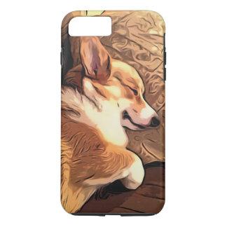 Coque iPhone 7 Plus Chien de corgi de Gallois de Pembroke de sommeil