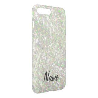 Coque iPhone 7 Plus Conception en verre crépitée de remous - opale