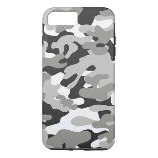 Coque iPhone 7 Plus Conception noire et grise de Camo